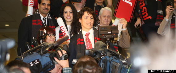 JUSTIN TRUDEAU ENTRANCE