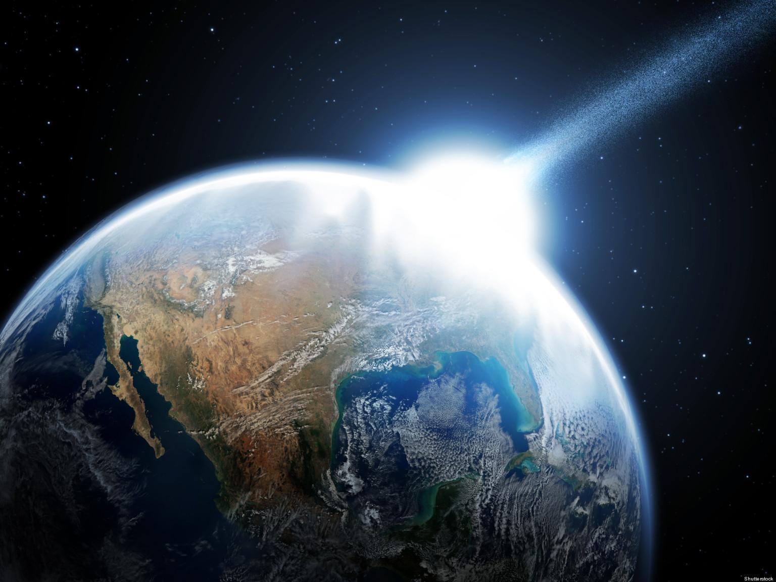 Asteroid Hitting Asteroid Hitting Earth 2013