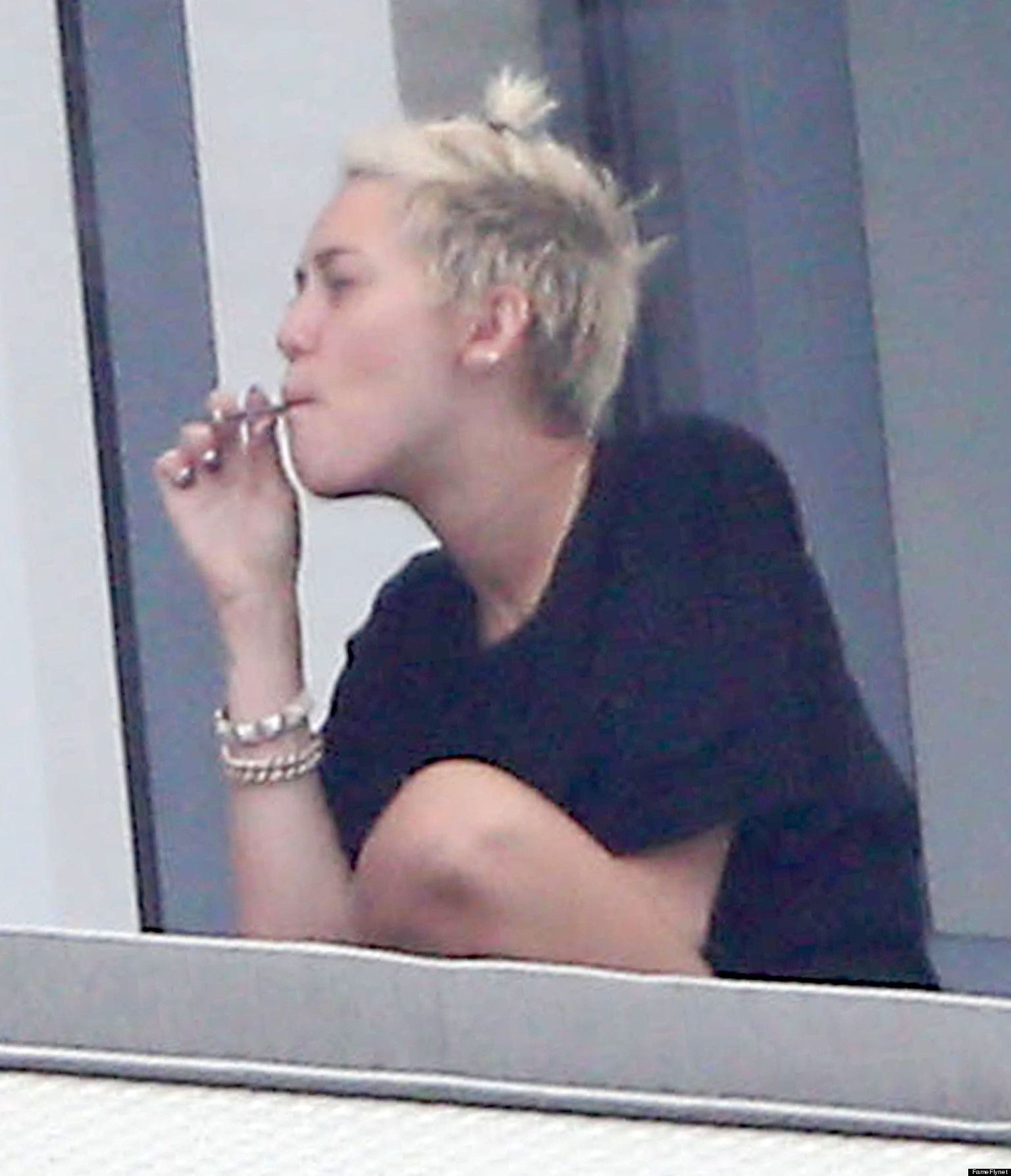 Miley Cyrus Caught Smoking Something Suspicious
