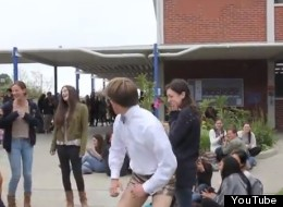 WATCH: World's Best Promposal Includes Gold Lame Shorts, Twerking