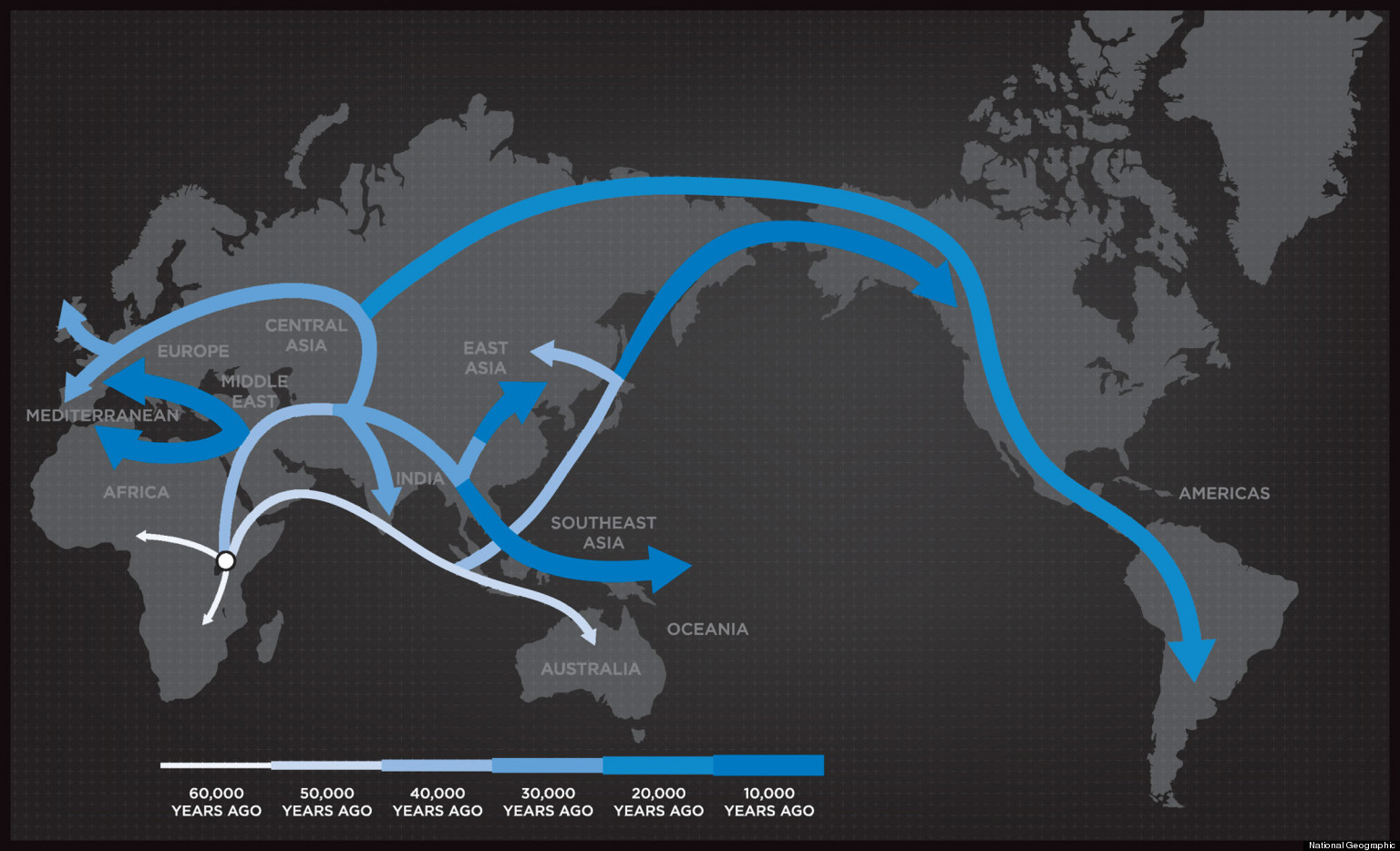 The Genographic Project is seeking to chart new knowledge about the migratory history of the human species by using sophisticated laboratory and computer analysis of DNA contributed by hundreds of thousands of people from around the world.