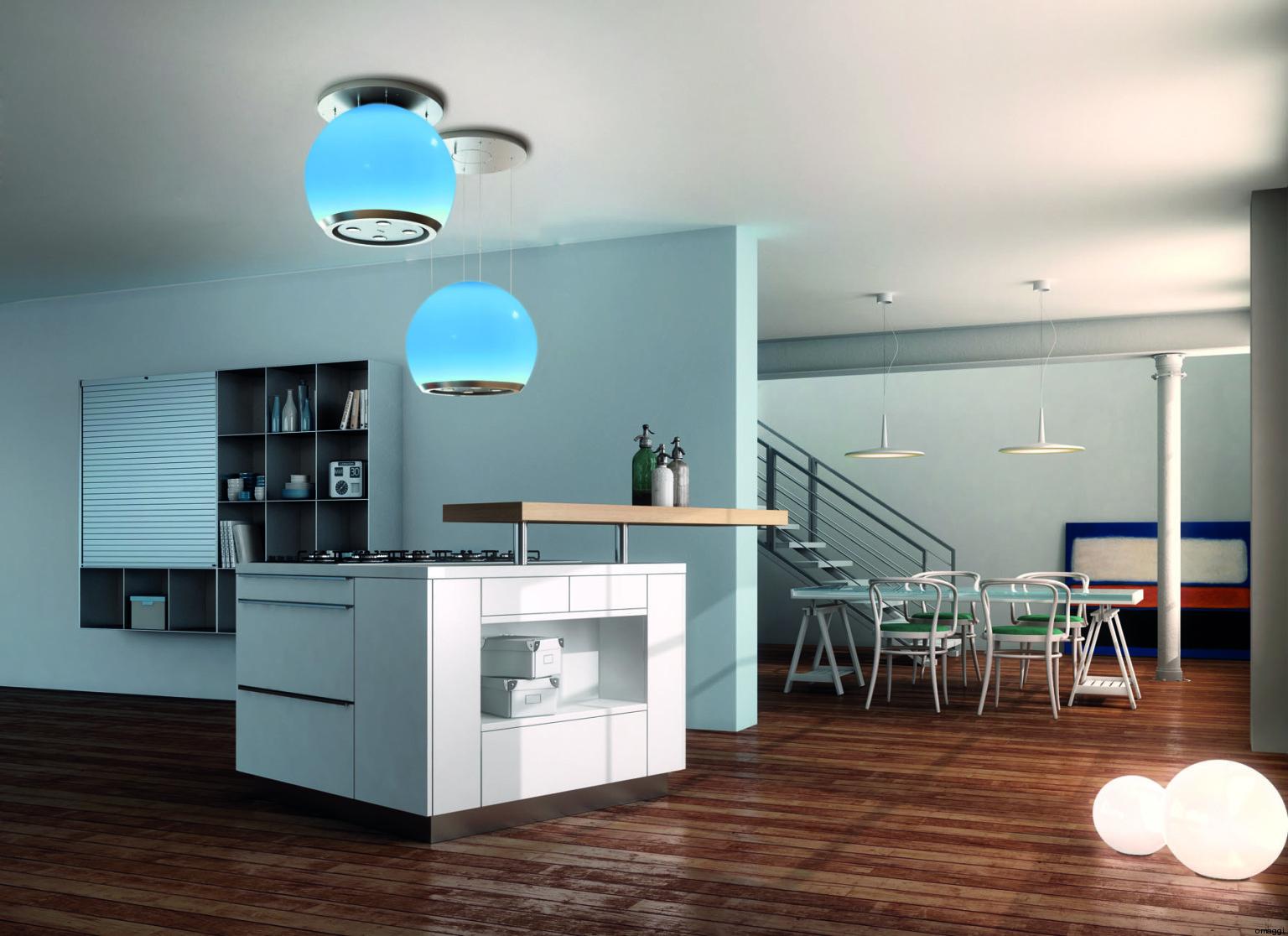 Salone del mobile le cappe da cucina faber silenziose colorate funzionali eleganti foto - Cappe cucina faber ...