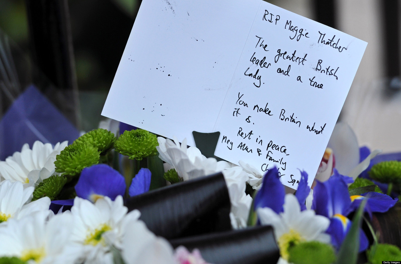 Margaret Thatcher Dead Flowers Left Outside West London Home