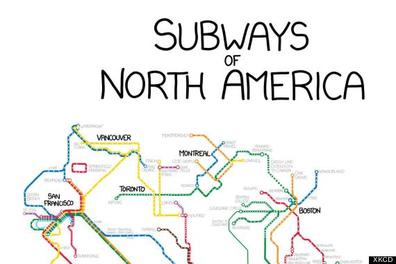 xkcd subway map