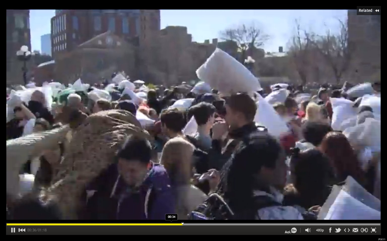 New York City Pillow Fight