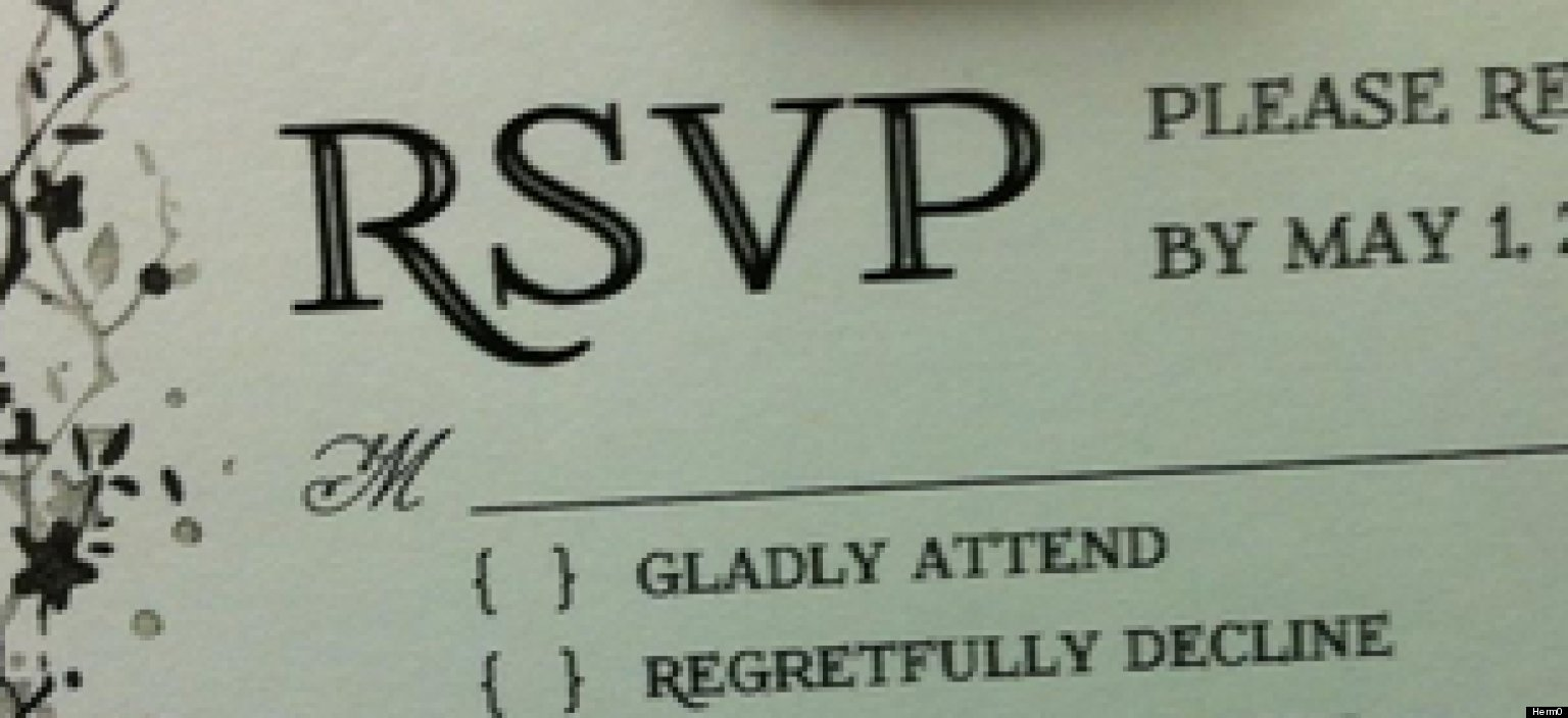 Wedding Rsvp: Wedding RSVP Reveals How Some People Feel About Attending