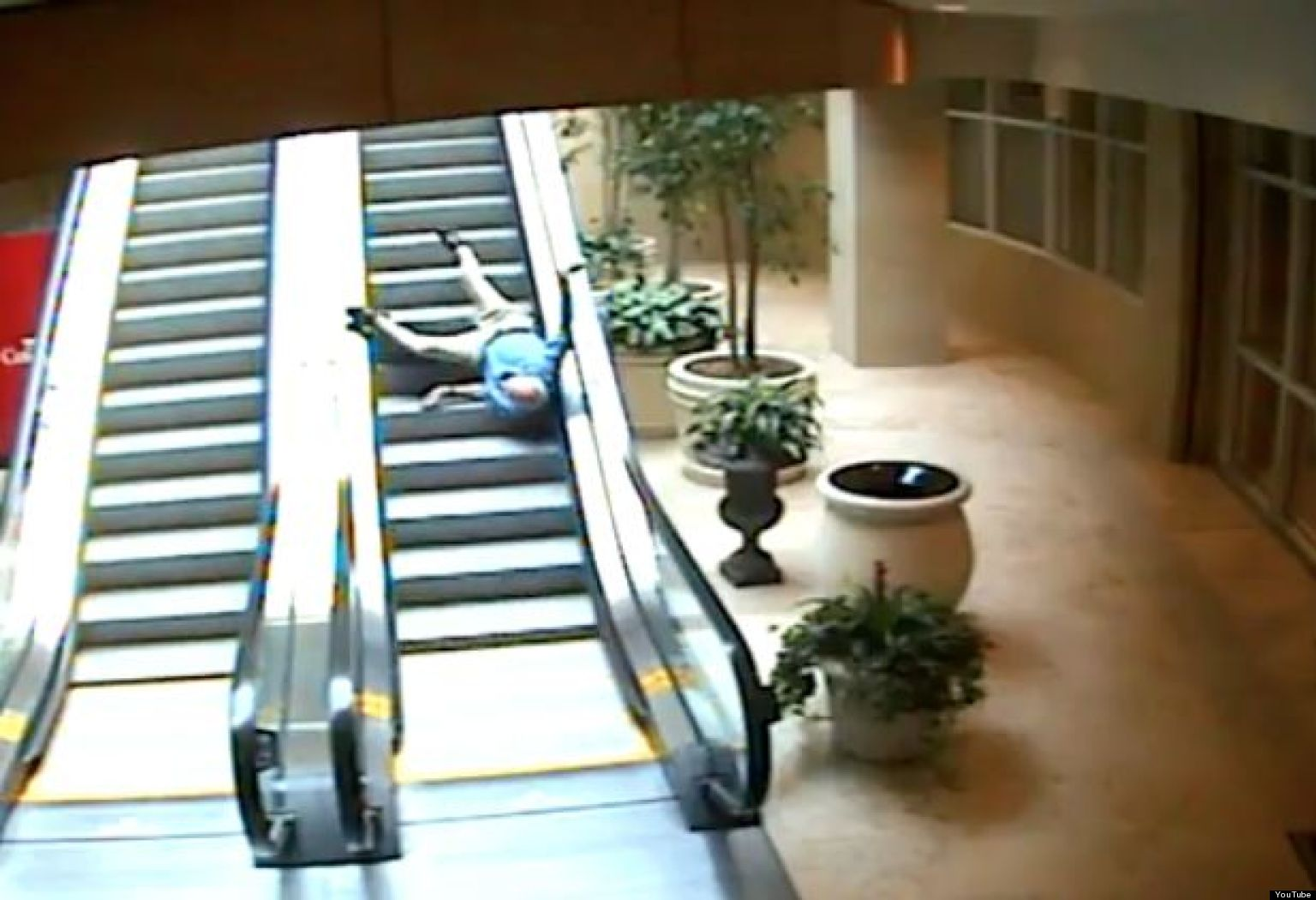 how to fall down stairs on purpose