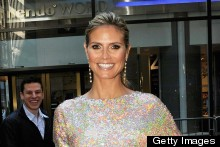 Heidi Klum Dazzles In Gold Sequin Mini At  America's Got Talent New York Auditions