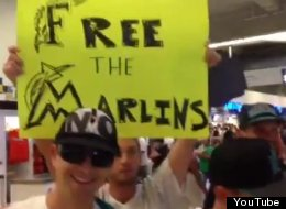 LOOK: Protesting Marlins Fans Booted From Stadium