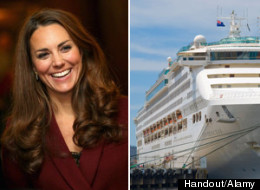 Kate Middleton Princess Cruise Naming Ceremony
