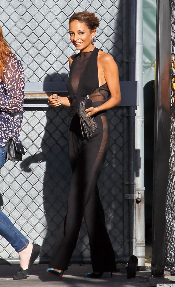 e7d6c0806f2 Nicole Richie s Sheer Jumpsuit For  Jimmy Kimmel  Gives Us Pause ...