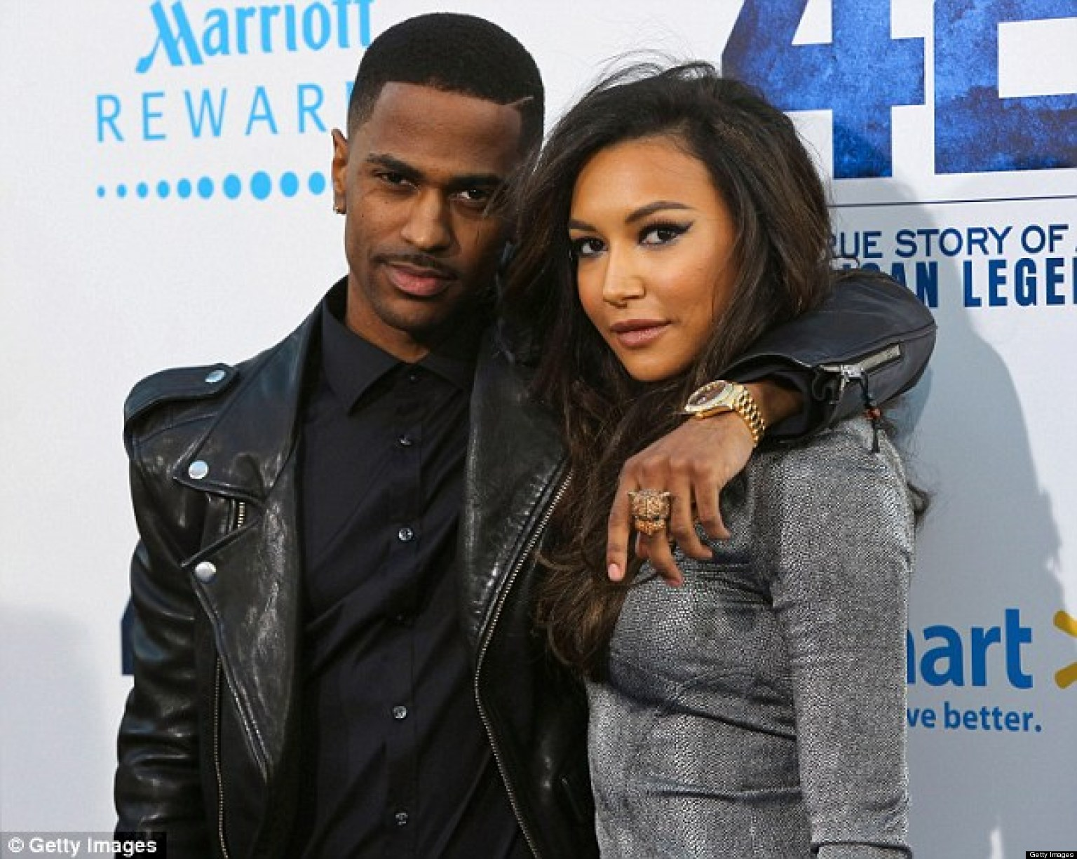 glee sar naya rivera and rapper big sean make their couple