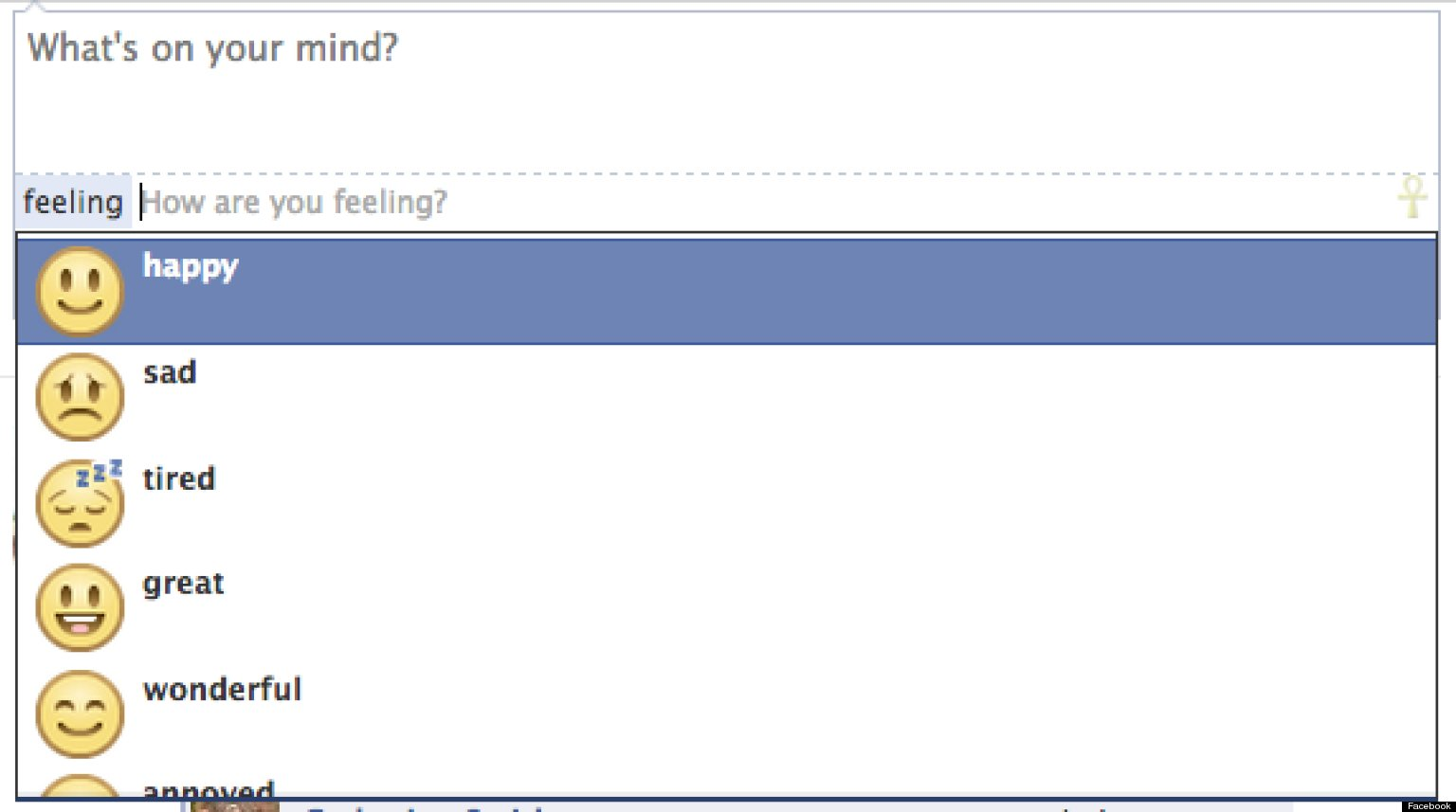 Facebook Adds Emoticon Option To Status Updates | HuffPost