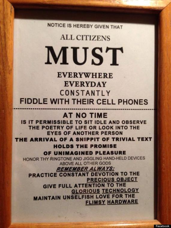 all citizens must fiddle cell phone