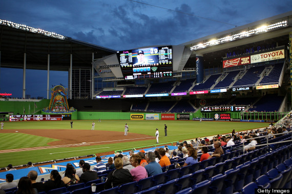 marlins attendance 2013 second game braves