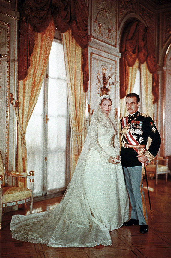 Princess Grace and Prince Rainier honor a classically, royal ensemble.