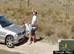 Street View Car Drives Past At REALLY Awkward Time