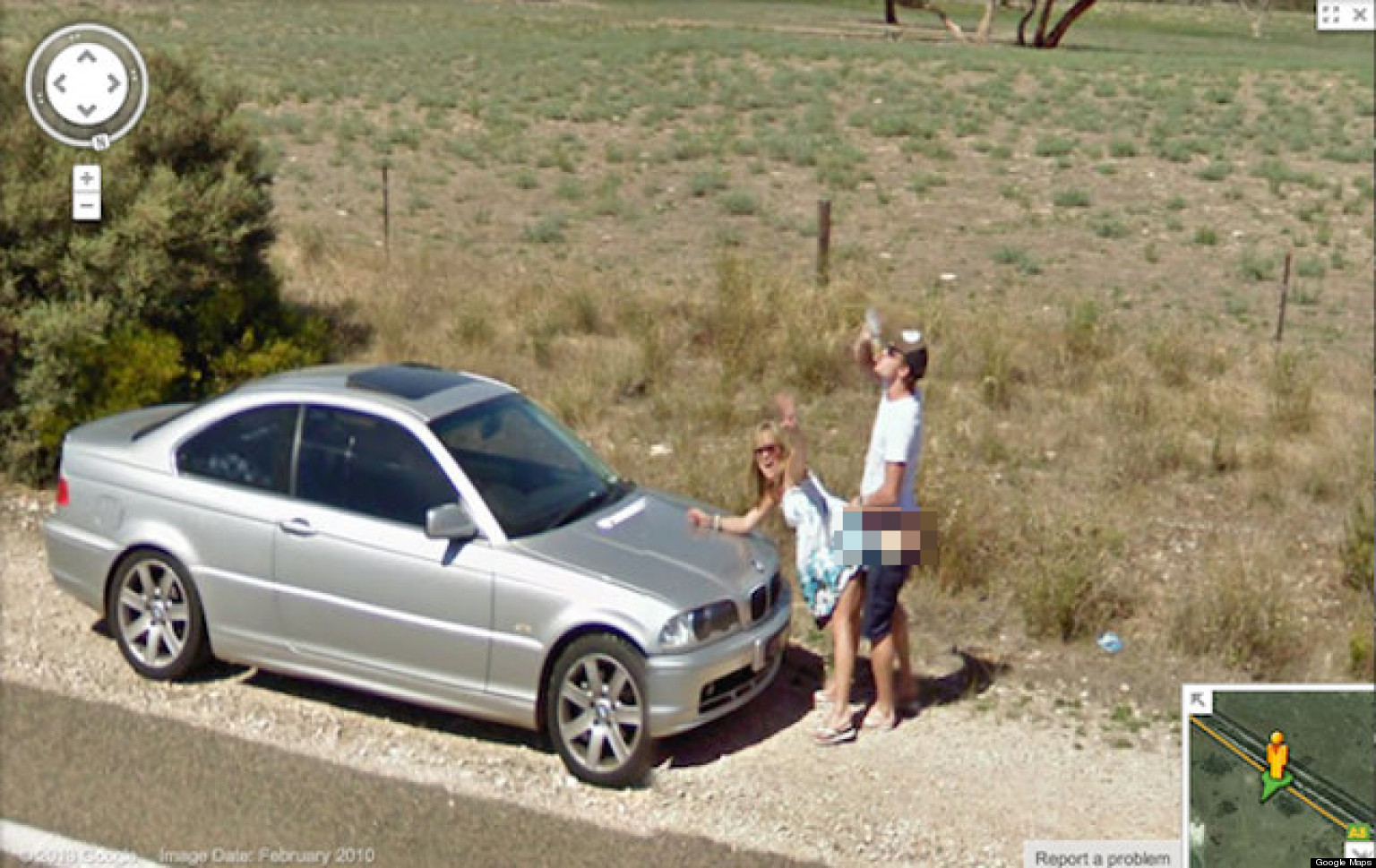 Something People caught naked on google earth necessary