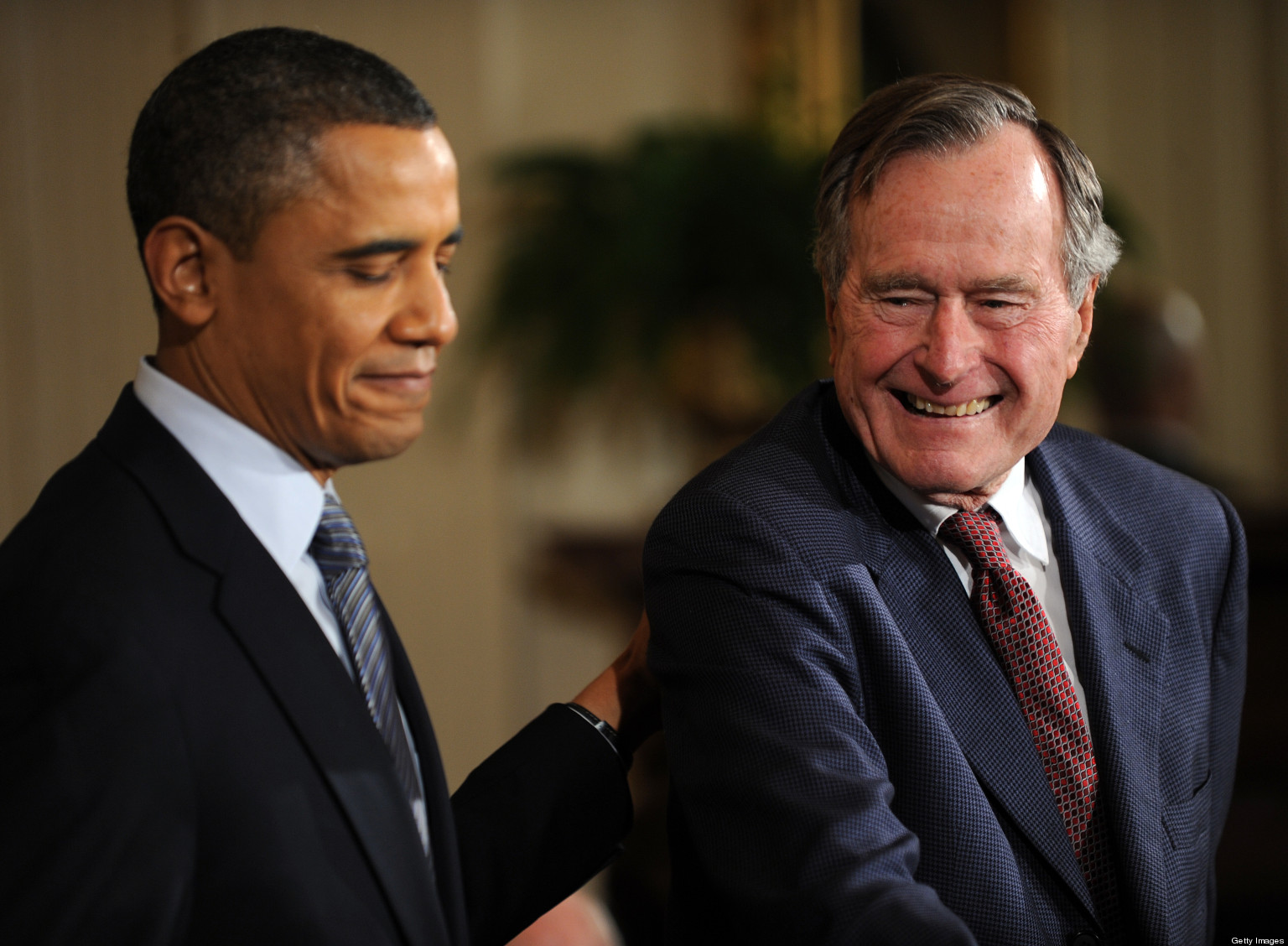 Obama To Name Volunteer Fund After George H W Bush Huffpost