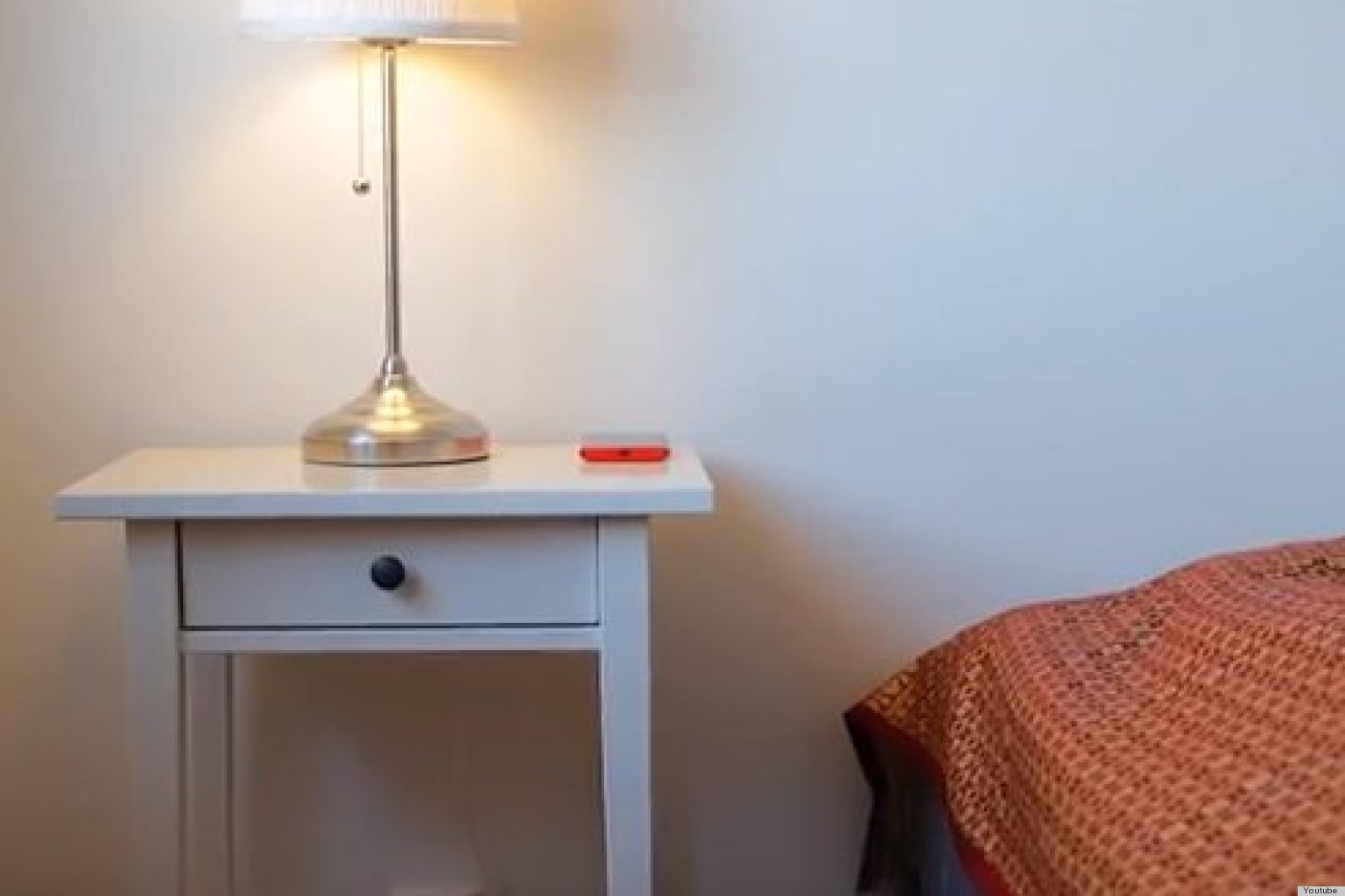 a wireless charger built into a nightstand is the coolest ikea