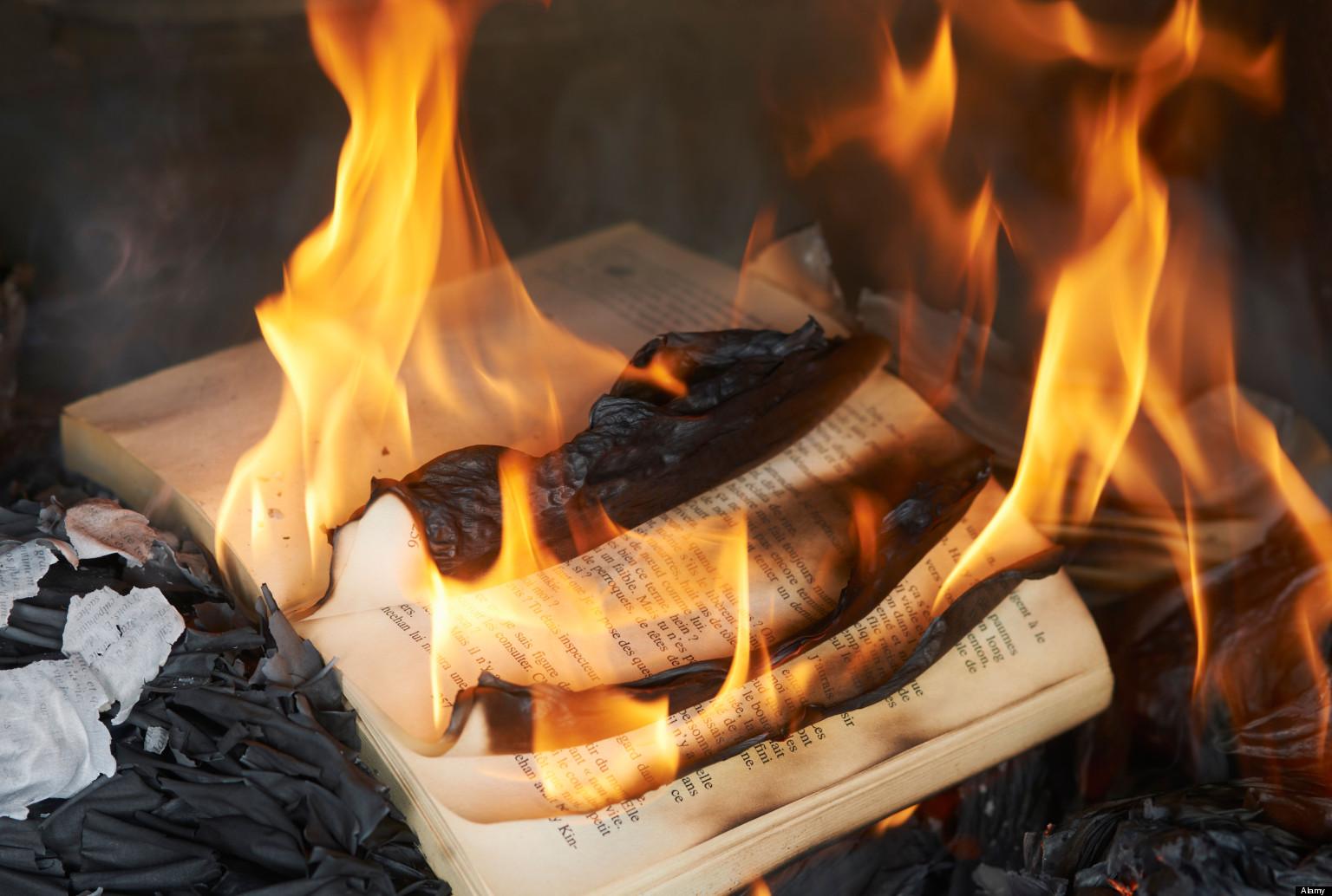 Fahrenheit 451 book burning theme hotel