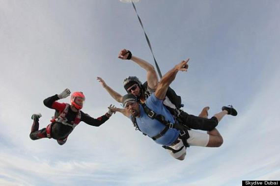 david haye michael schumacher skydive