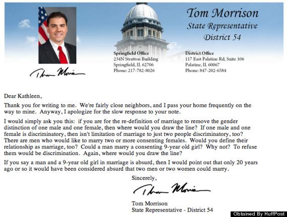 tom morrison illinois gay marriage polygamy