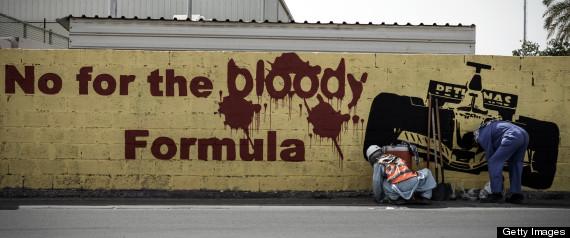 BAHRAIN PROTESTS FORMULA 1 RACE