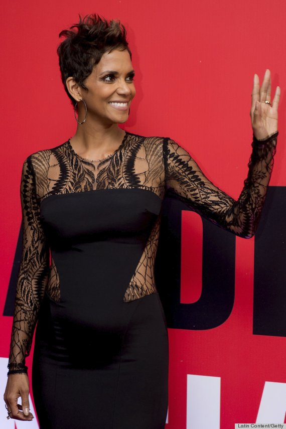 Pregnant Halle Berry Styles Baby Bump With Cutouts Photos