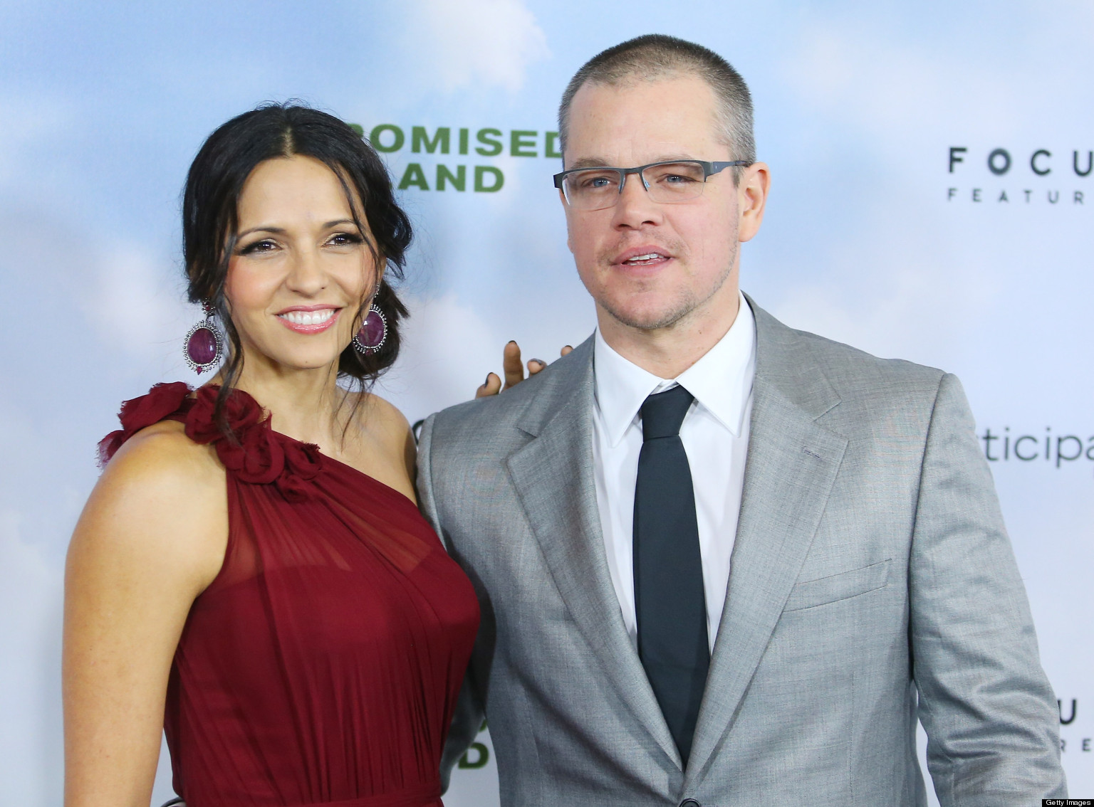 how did matt damon meet luciana barroso