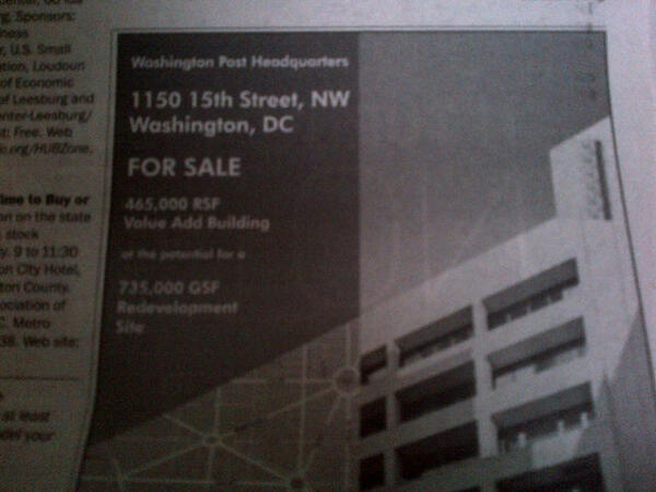 washington post sale