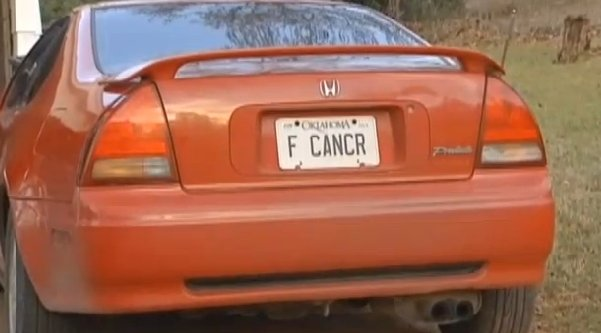 f cancr license plate 2