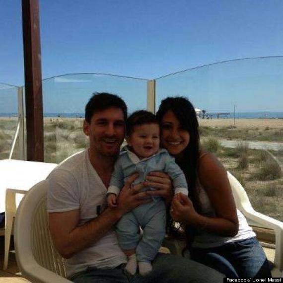 huge discount 2fc88 849f0 Lionel Messi Shares Picture Of Baby Boy Thiago At The Beach ...