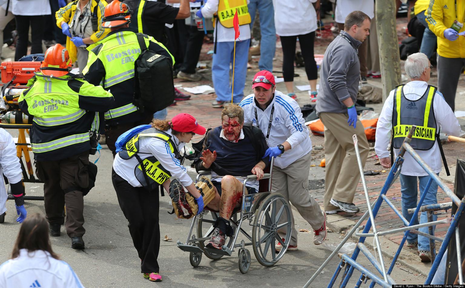 Boston Marathon Bombing (GRAPHIC PHOTOS)