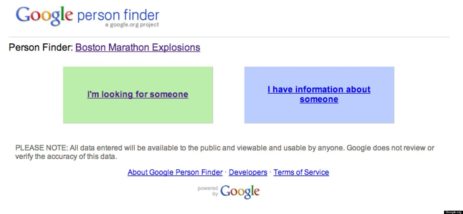 Track Down Missing People With Google Person Finder