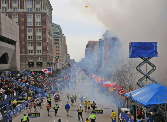 boston marathon reporters