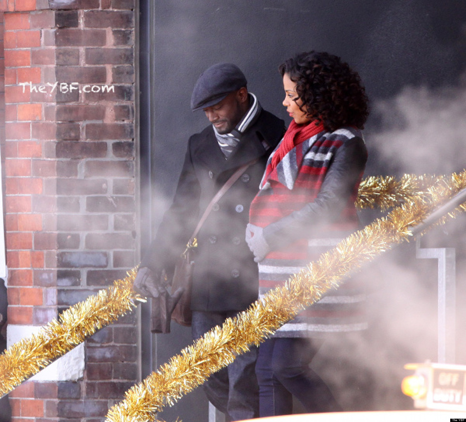 Taye Diggs, Sanaa Lathan, Terrence Howard And Regina Hall Filming 'The Best Man Holiday'