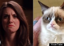 Alison Brie Morphs Into Grumpy Cat