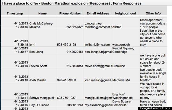 boston marathon google doc
