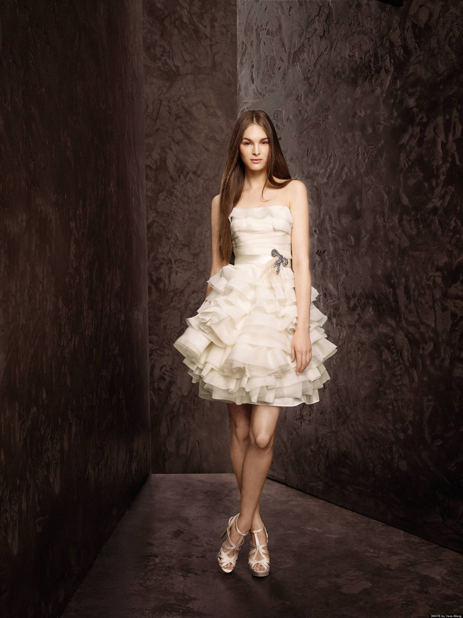 Short wedding dresses for spring brides photos huffpost for Wedding dress for a short bride