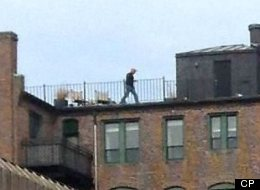 Boston Marathon Bombings Man On Rooftop