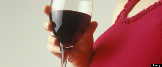 Pregnant One Glass Wine