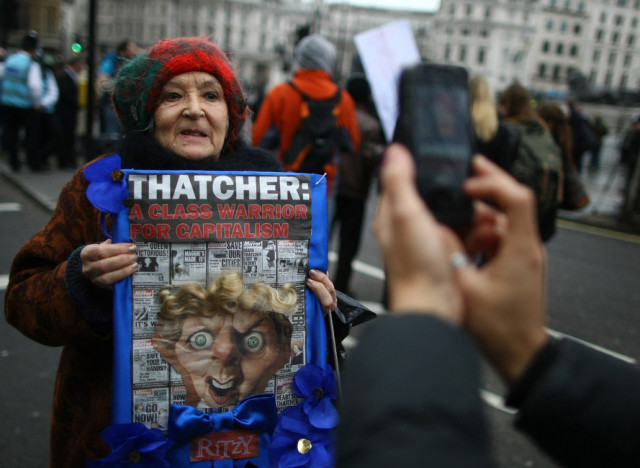 thatcher protester