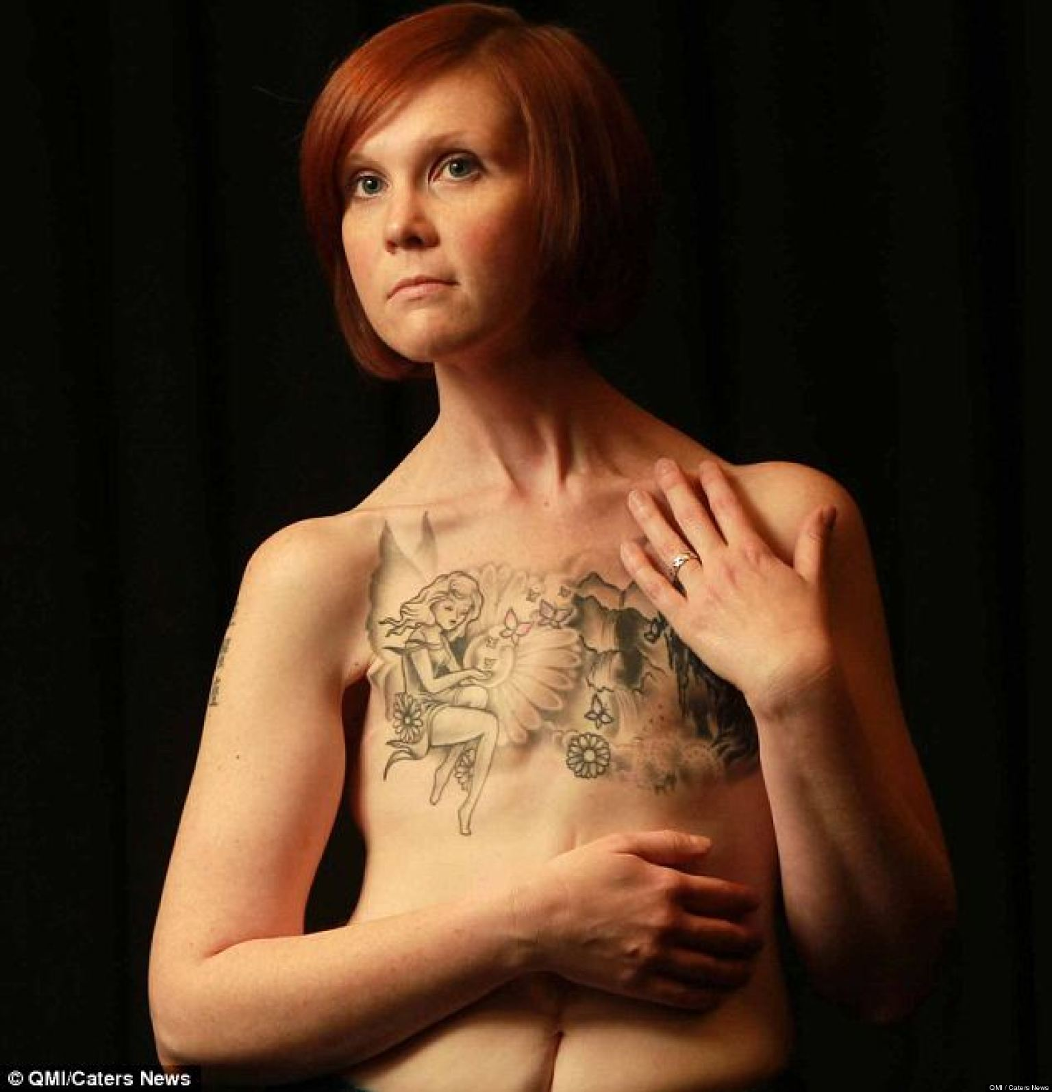 Kelly davidson breast cancer survivor shares amazing for Nude women tattoo