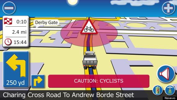 cyclist alert screen