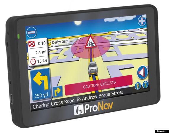 pronav pnn420 shot cyclist alert screen