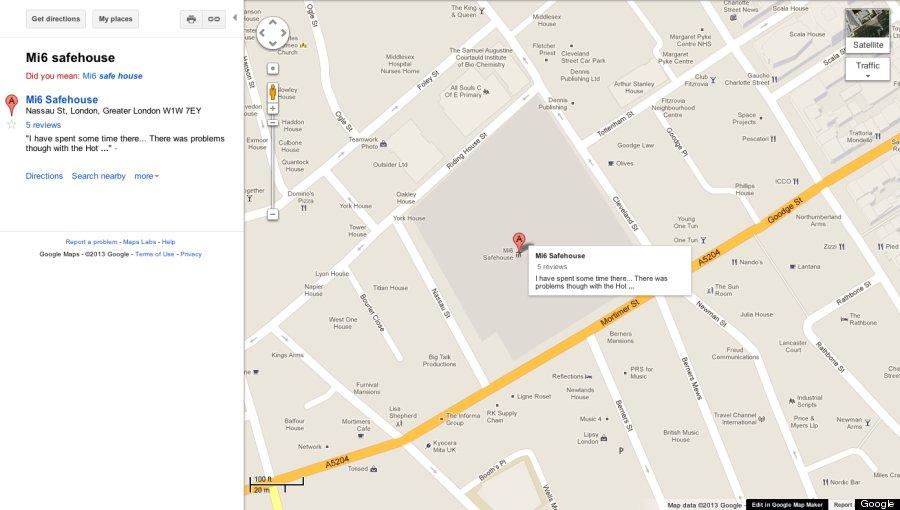 mi6 safe house google maps
