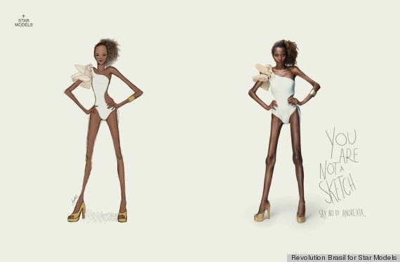 Anti Anorexia Ads Stun With Tagline You Are Not A Sketch Photos