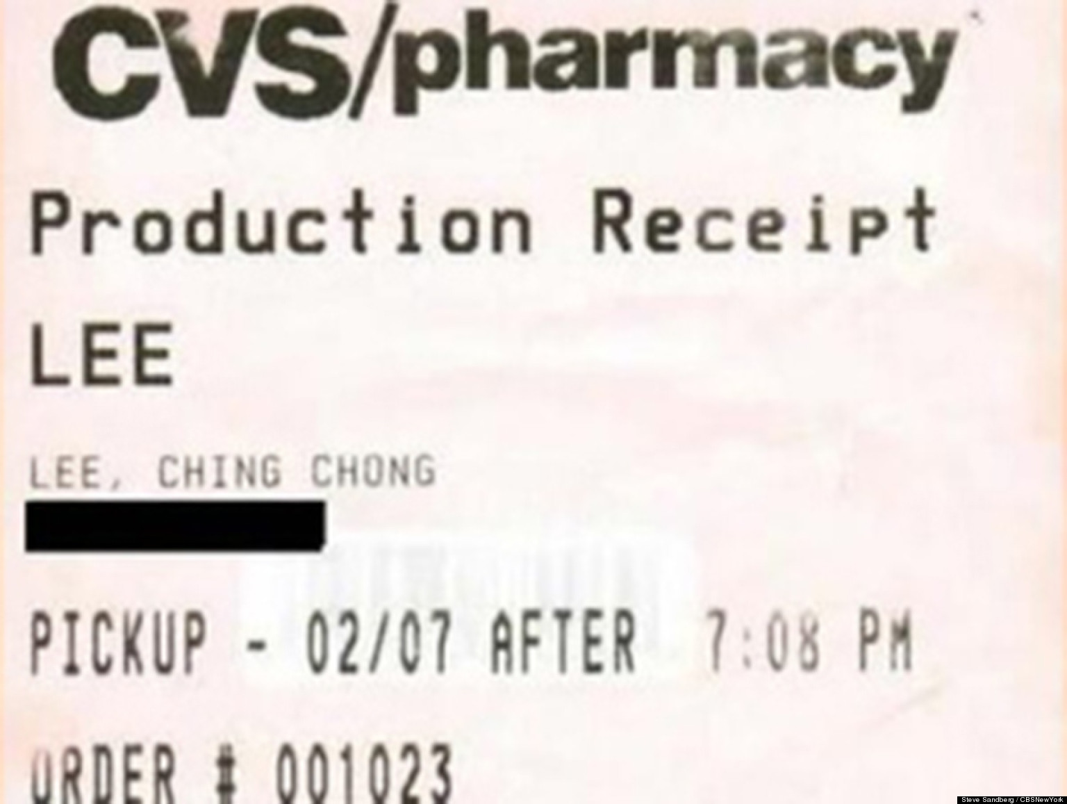 39 ching chong 39 cvs receipt leads to million dollar lawsuit from enraged new jersey customer. Black Bedroom Furniture Sets. Home Design Ideas
