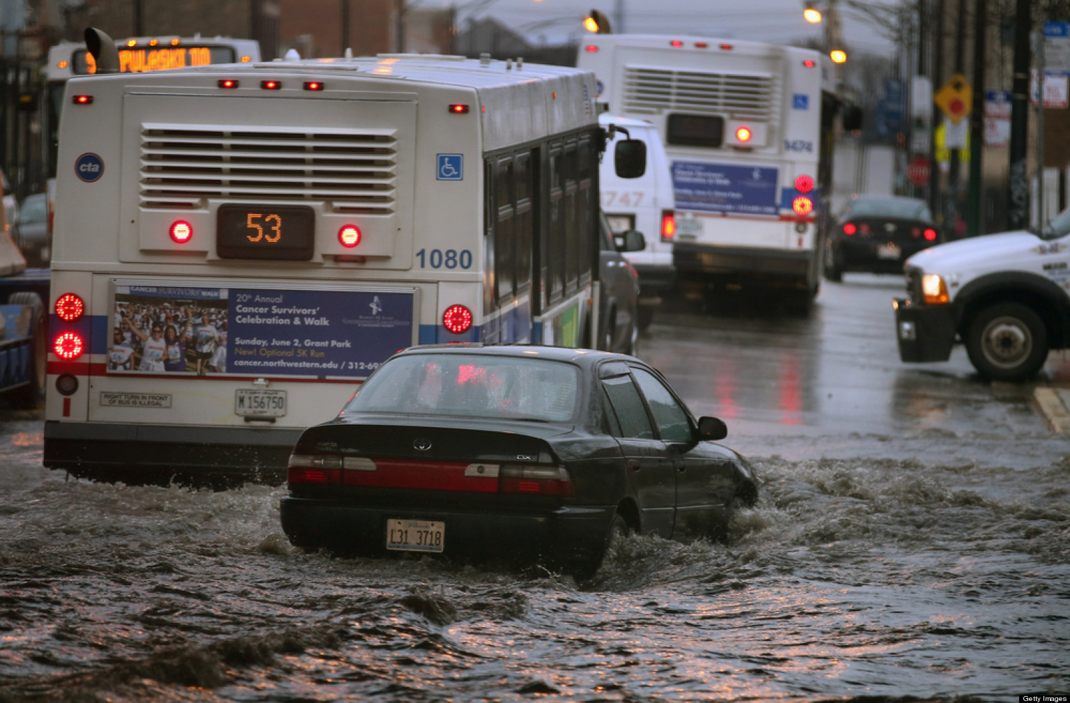 Chicago Flooding Heavy Rain Storm Prompts State Of Emergency - Chicago flooding map